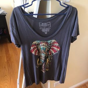 Pacsun Riot Society elephant tee
